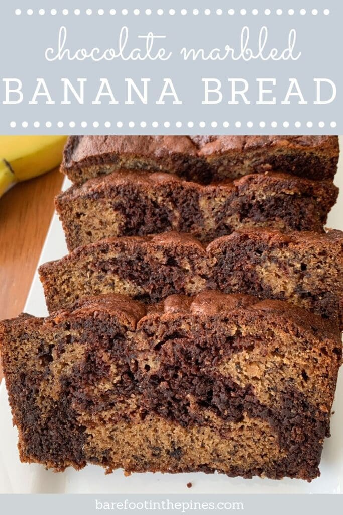 Pin Chocolate Marbled Banana Bread For Later