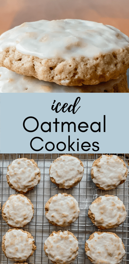 Delicious Iced Oatmeal Cookies