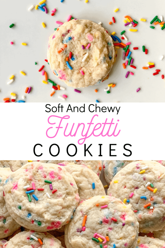 Do you love birthday cake? Do you love cookies? Why not have both! These cookies taste like funfetti cake batter wrapped in a soft, chewy sugar cookie. They're fun, festive, and insanely scrumptious.