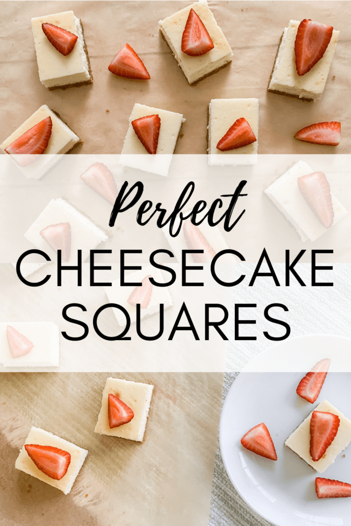 Perfect Cheesecake Squares