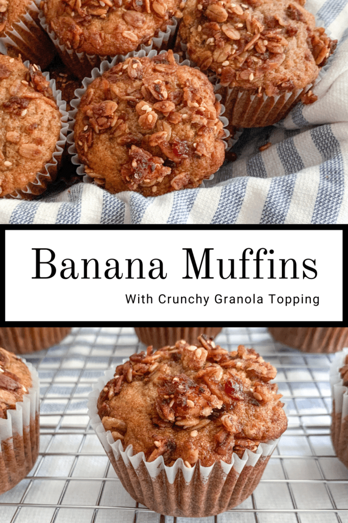 Banana Muffins for Pinterest