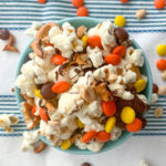 Chocolate Covered Popcorn With Candy, Pretzels and Peanuts