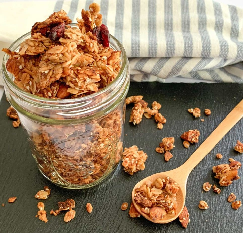 A Spoonful of Homemade Chunky Granola