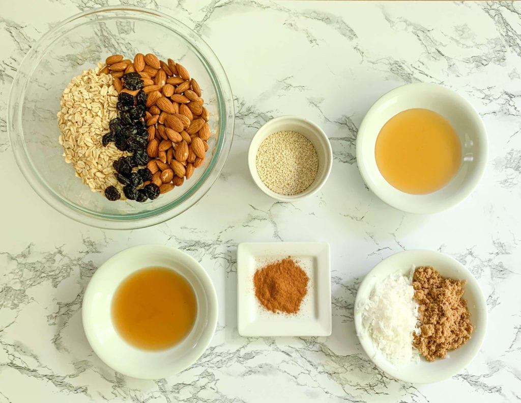 Ingredients for Chunky Granola