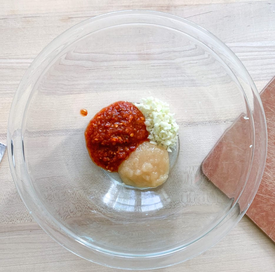 Marinade ingredients
