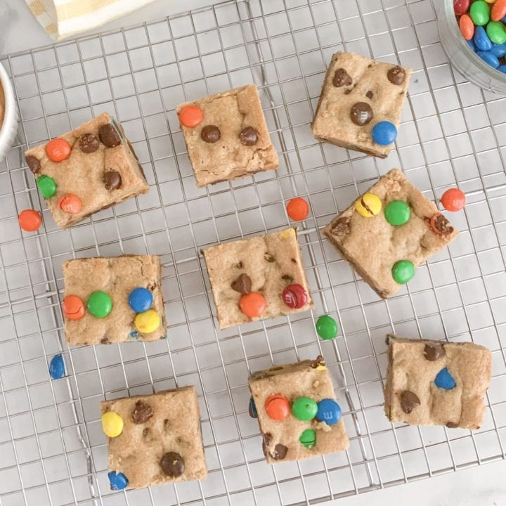 Soft and Chewy, Peanut Butter Chocolate Chip M&M Bars