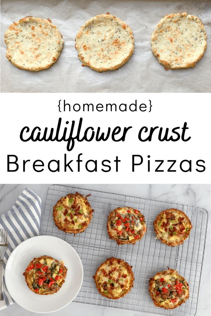Homemade Cauliflower Crust Breakfast Pizza Recipe