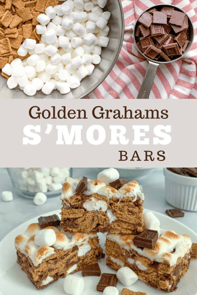 Delicious No Bake S'mores Bars made with Golden Grahams Cereal