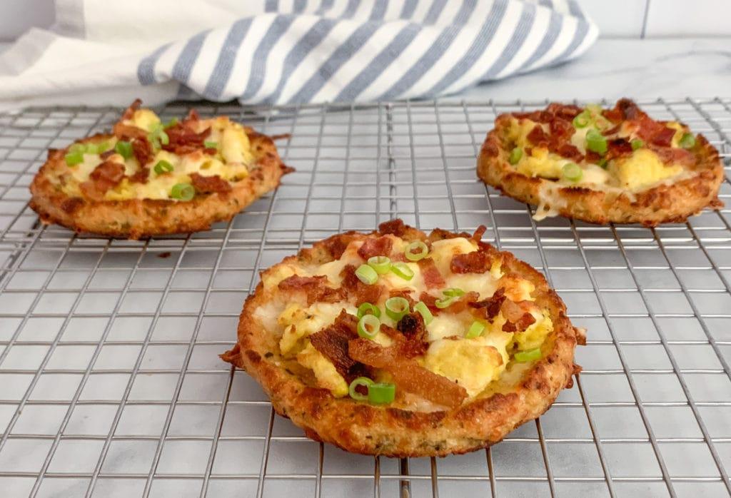 Mini Low Carb Breakfast Pizzas
