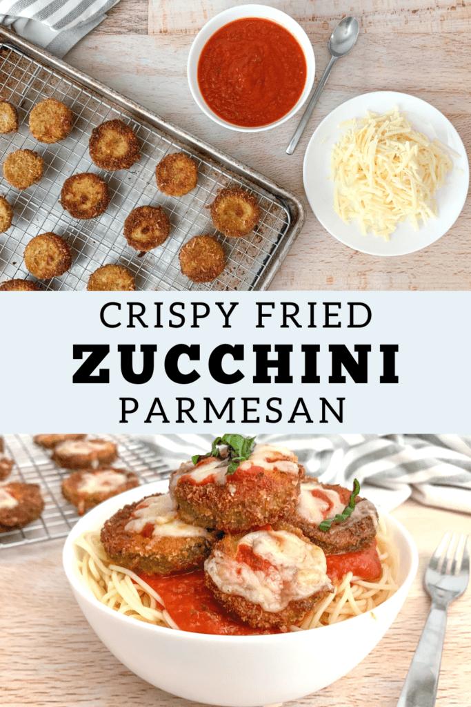Easy Crispy Fried Zucchini Parmesan