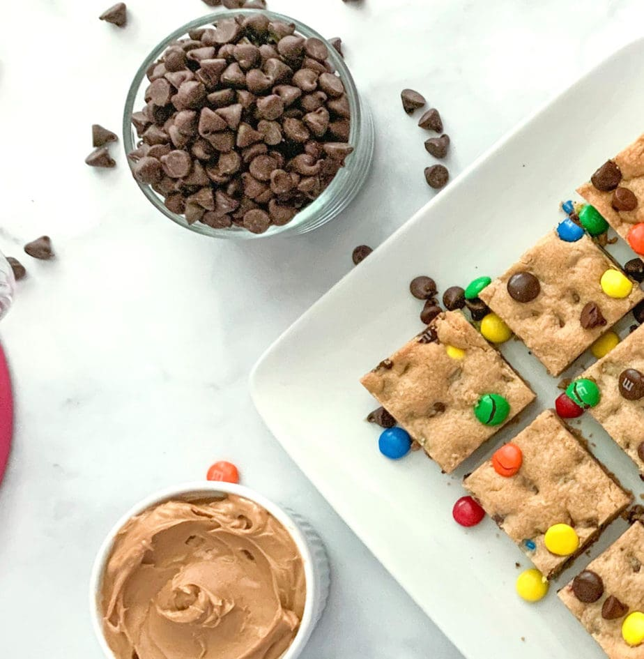 M&M Peanut Butter Cookie Bars