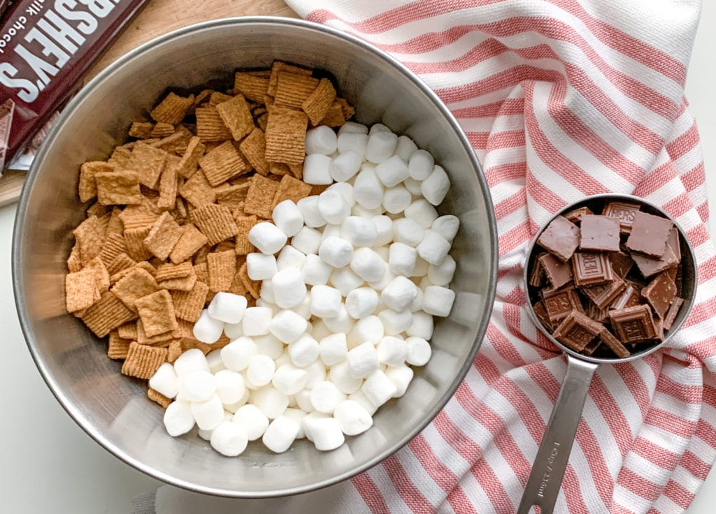Ingredients for How To Make Golden Grahams S'mores Bars