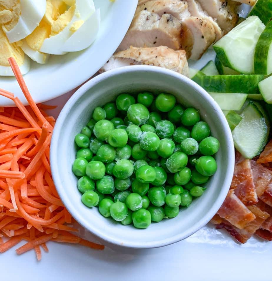 Garden Peas for Chicken Cobb Salad