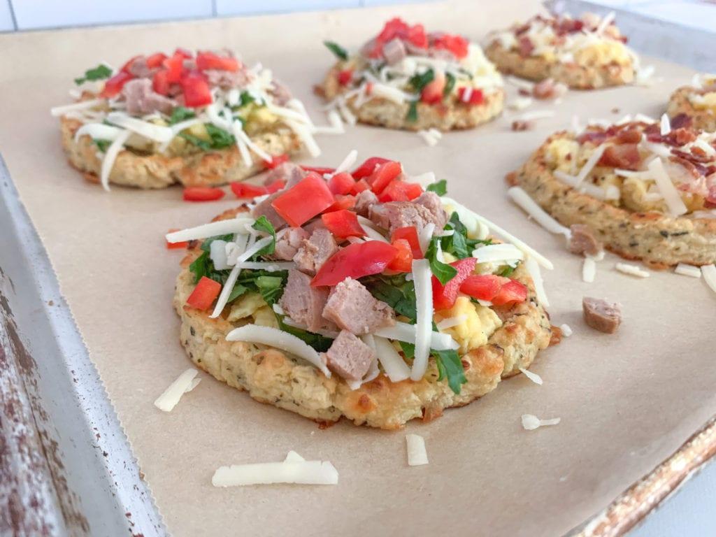 Cauliflower Crust Breakfast Pizza Toppings