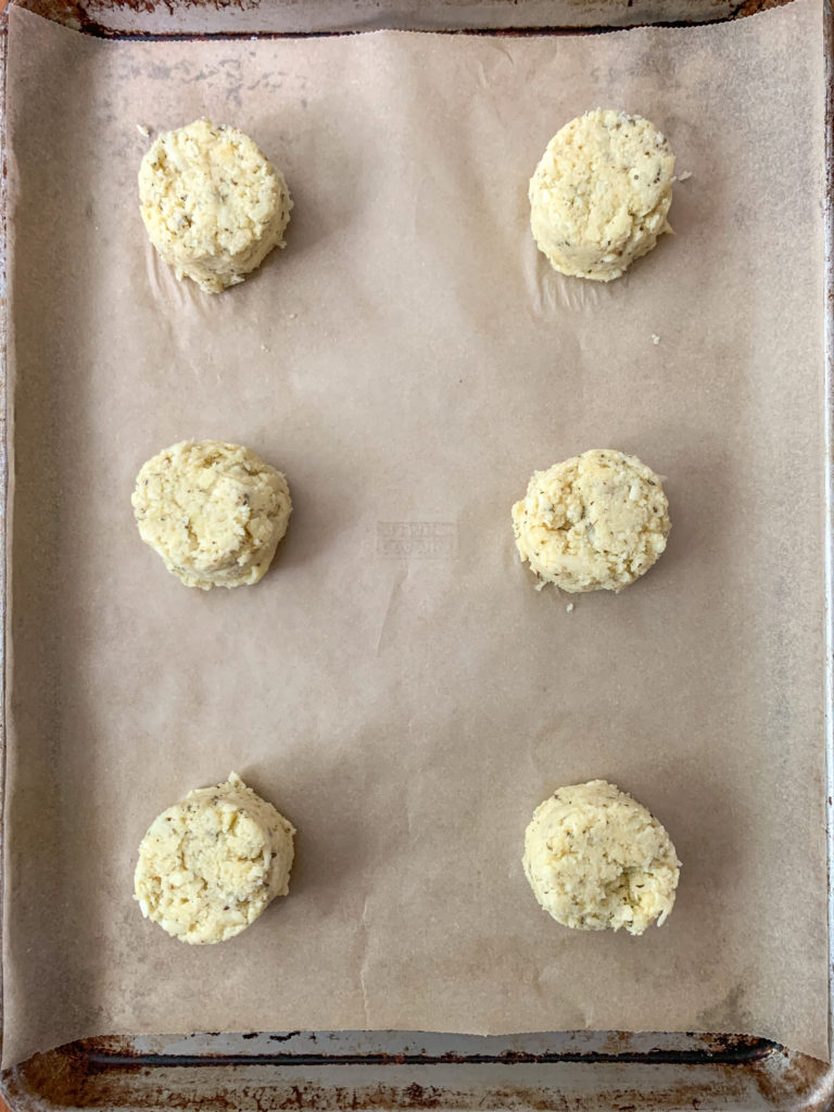 Scooped Cauliflower Crust Dough