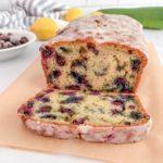 A slice of Blueberry Zucchini Bread