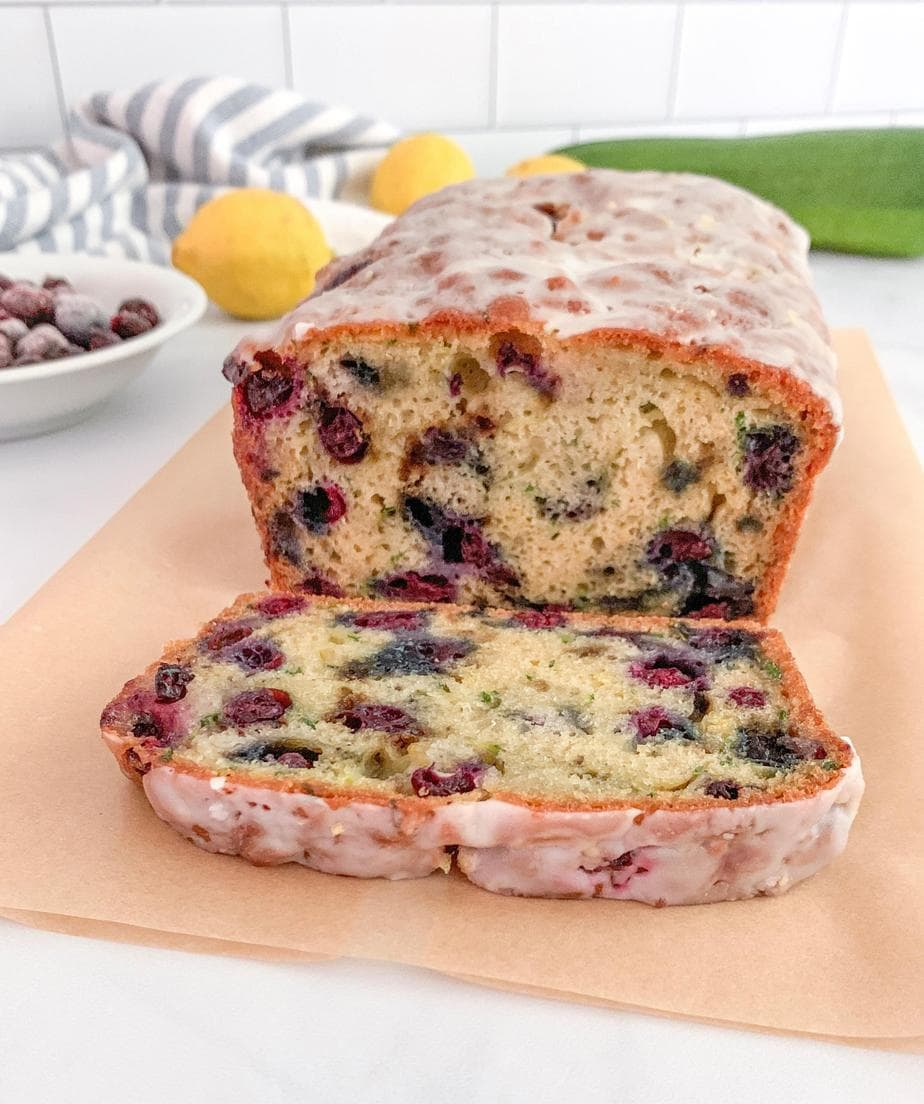 blueberry zucchini bread with lemon glaze  barefoot in