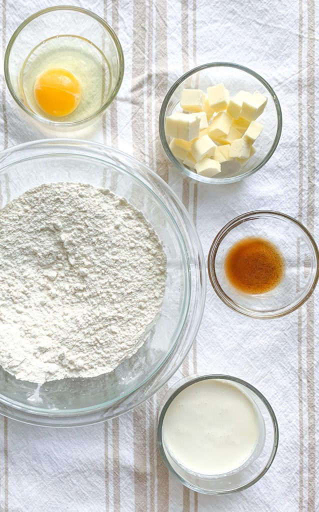 How to make Glazed Vanilla Bean Scones- The ingredients you will need