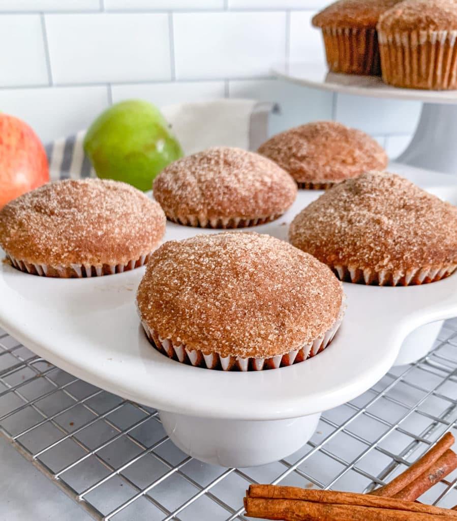 Cinnamon Sugar Applesauce Donut Muffins