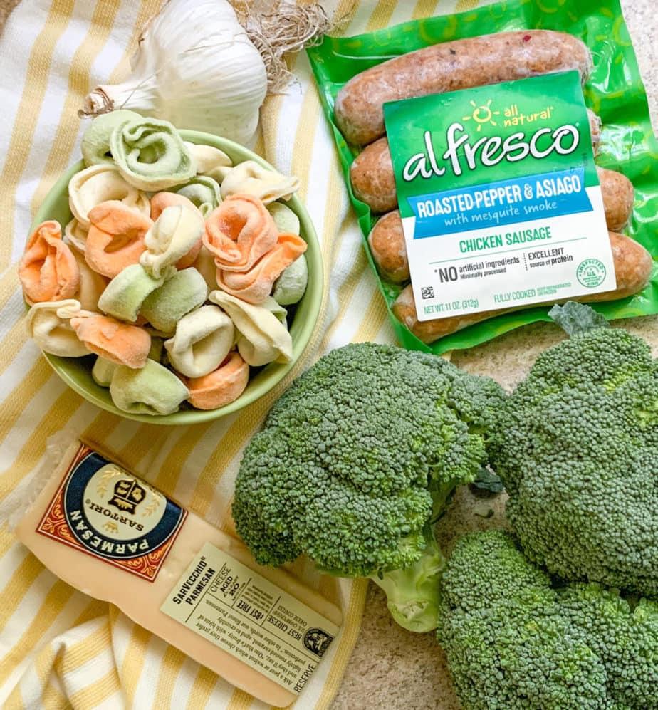 How to make Sheet Pan Broccoli Tortellini Bake