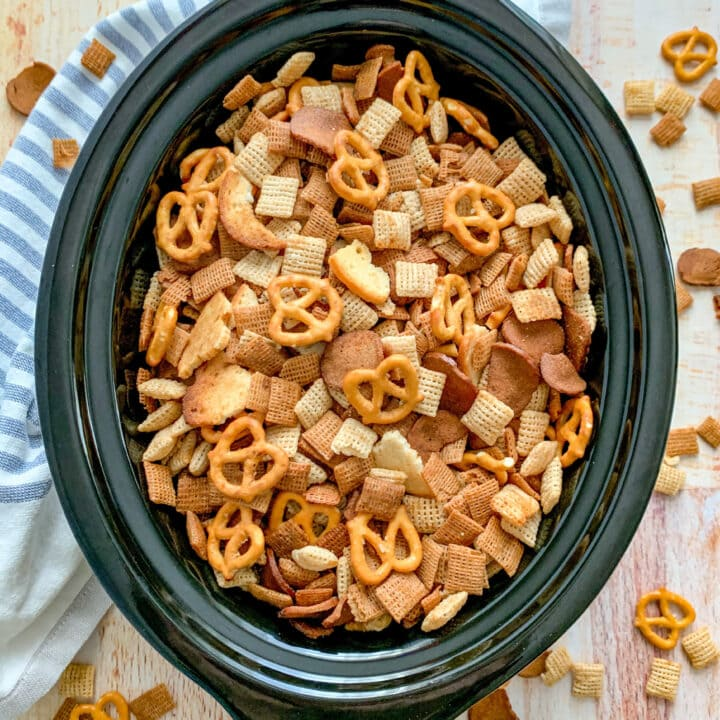 Chex Party Mix Made In A Crockpot