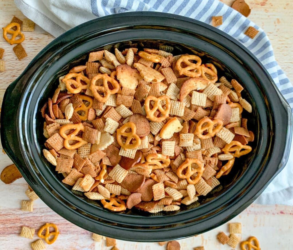 Chex Party Mix In the Crockpot