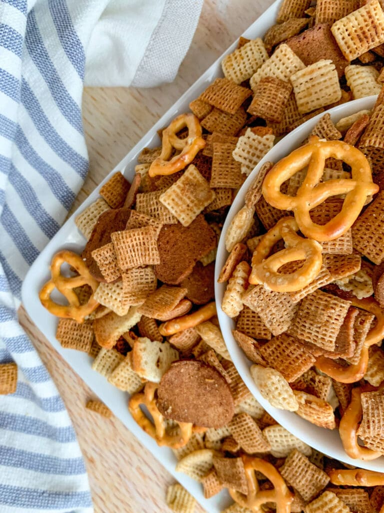Chex Mix Made in a Crockpot is the perfect snack for a party or family night