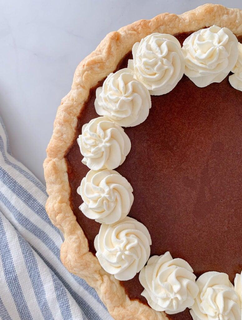 Chocolate Cream Pie with Fresh Whipped Cream