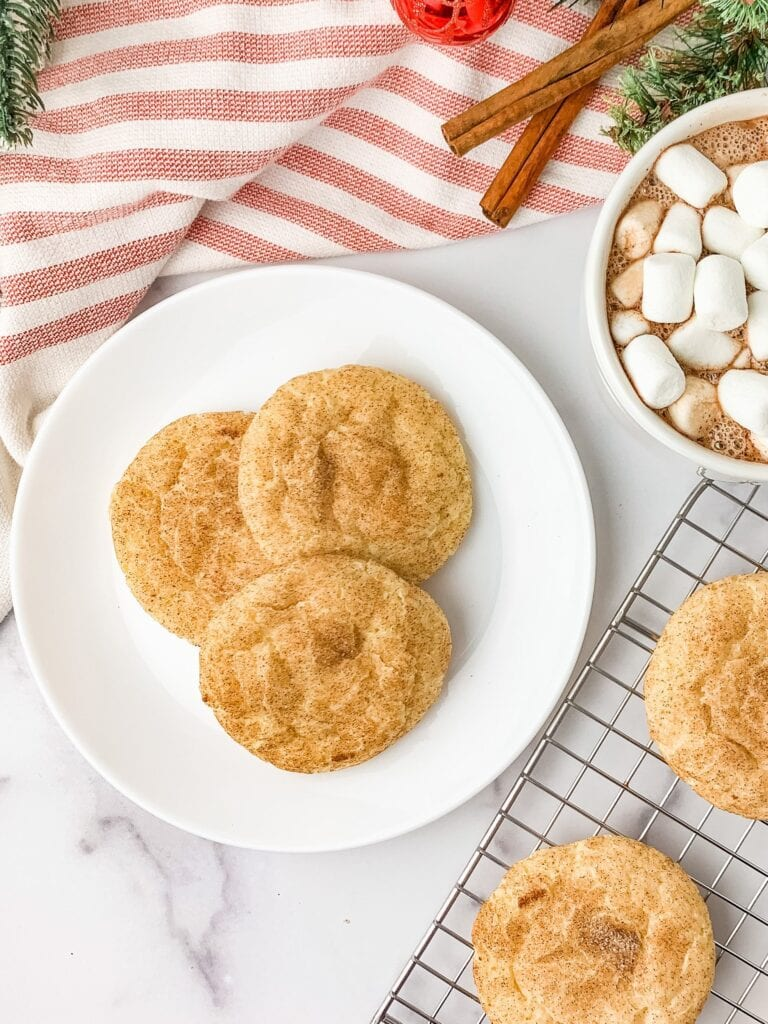 Chewy cream cheese Snickerdoodles made without cream of tartar