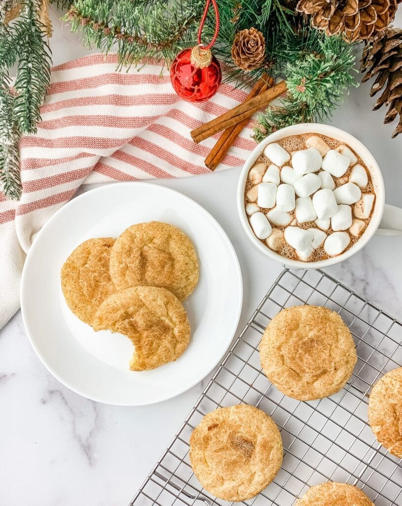 The best soft and chewy snickerdoodles made without cream of tartar