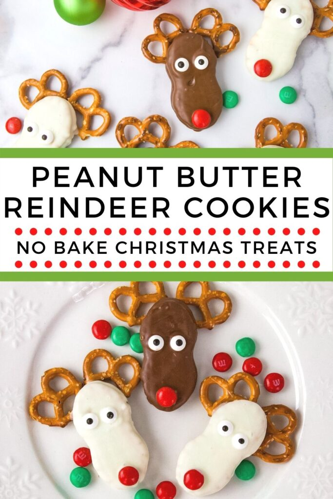 No Bake Peanut Butter Reindeer Cookies are fun for both kids and adults!