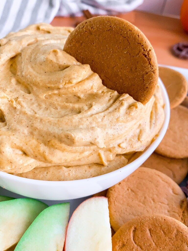 Easy Pumpkin Fluff Dip- Made with Cream Cheese and Heavy Whipping Cream