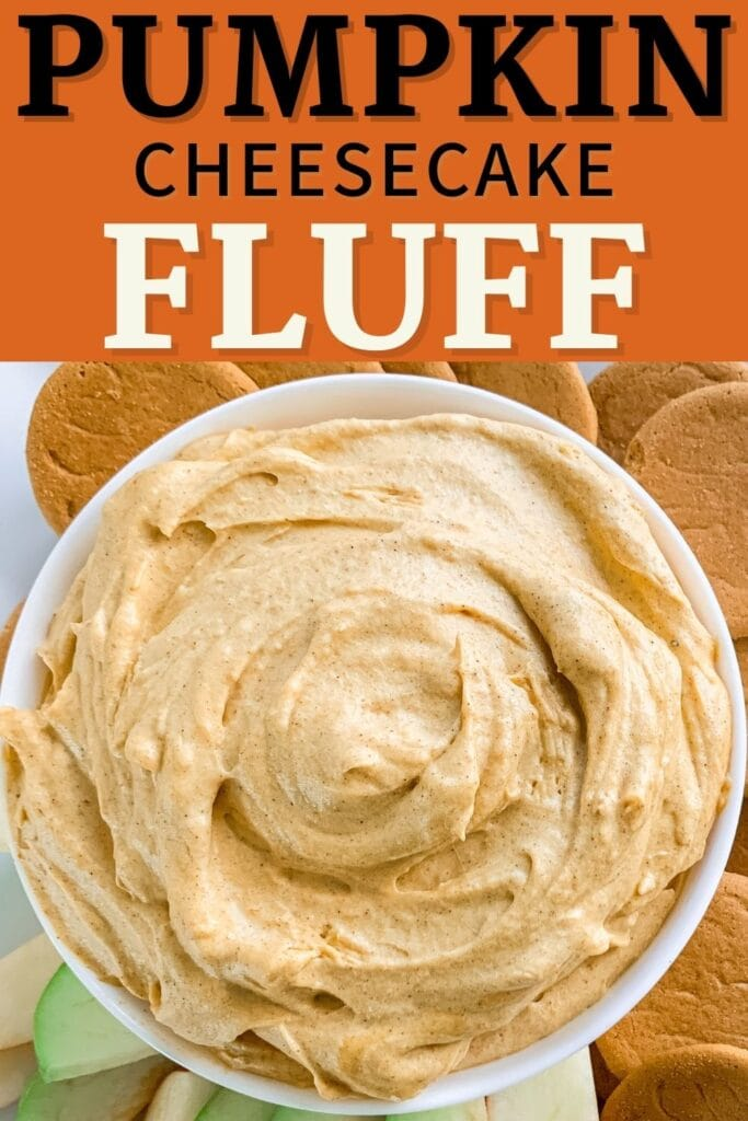 Easy Pumpkin Fluff made with heavy cream and cream cheese. Perfect for Thanksgiving Desserts