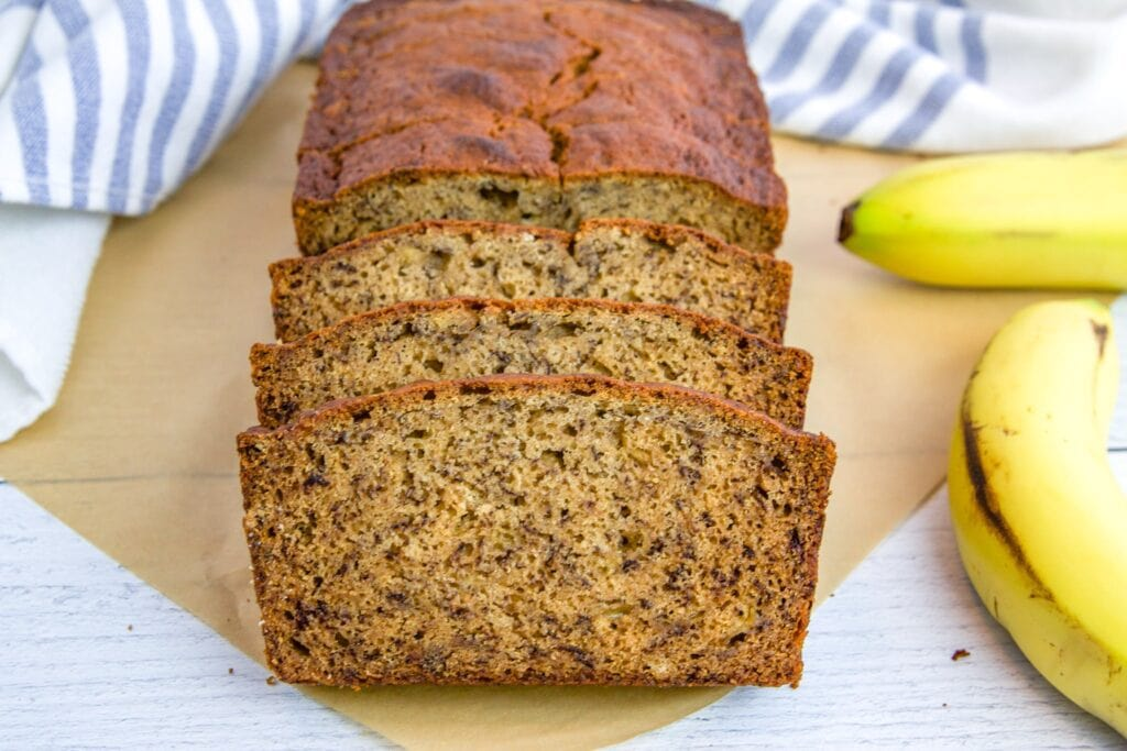 Dairy Free Banana Bread made with coconut oil, whole wheat flour and fresh or frozen bananas