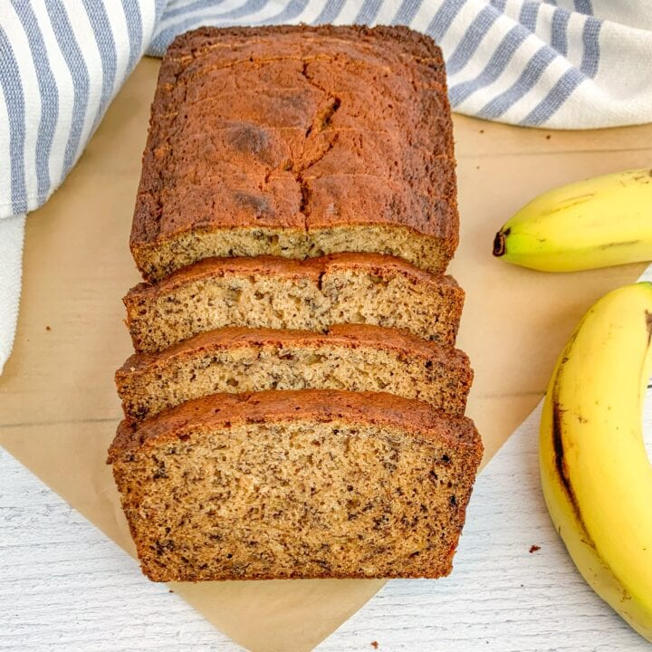 Dairy Free Banana Bread with Coconut Oil