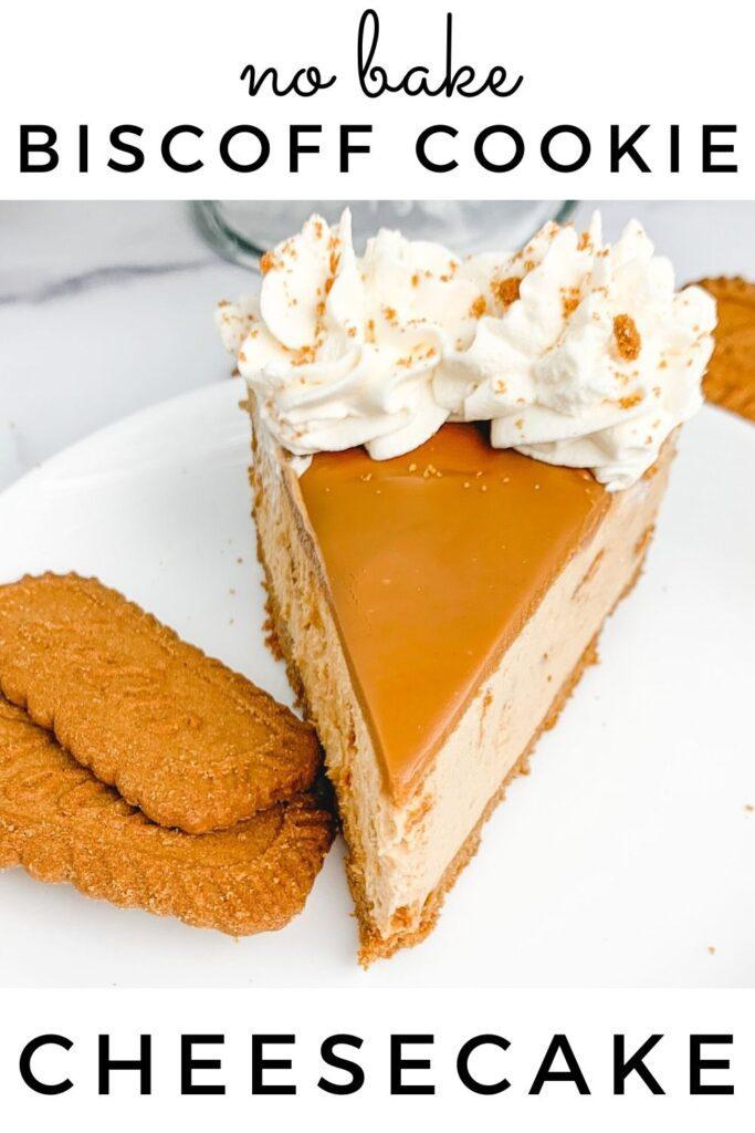 No Bake Lotus Biscoff Cookie Cheesecake