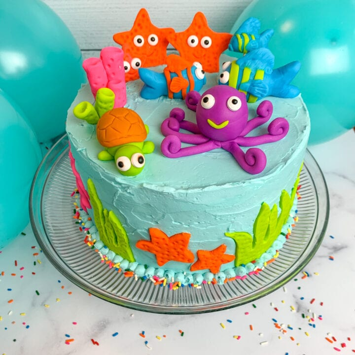 Under The Sea Cake for Boys or Girls Birthday Party or Baby Shower
