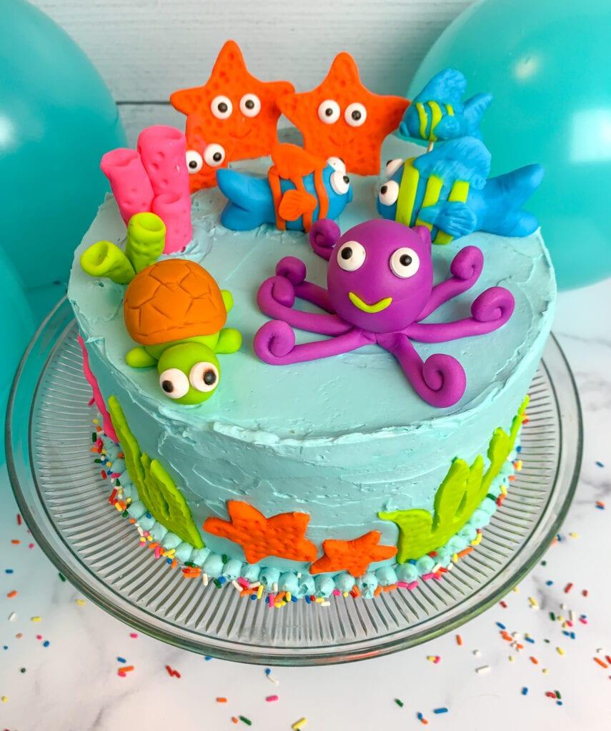 Sea Animal Birthday Cake