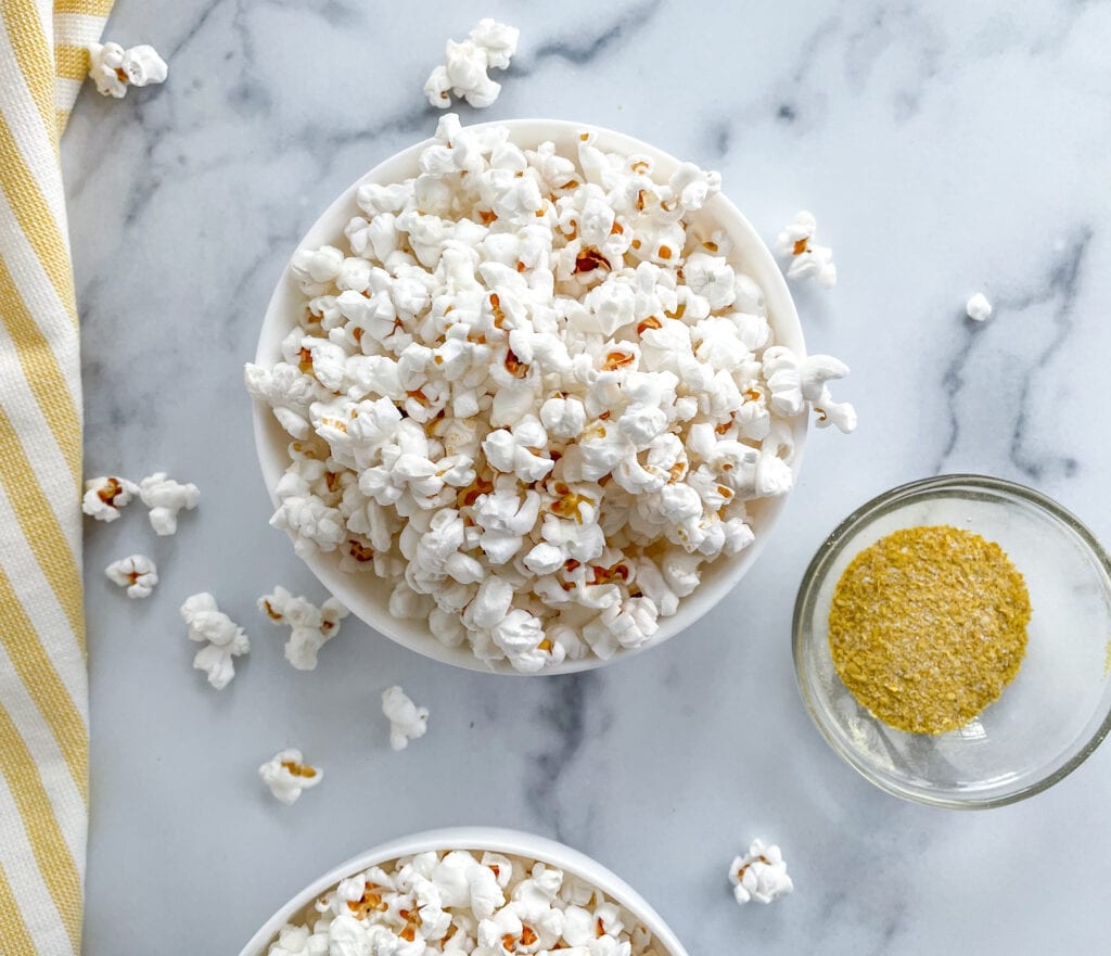 Healthy Popcorn Seasoning With Nutritional Yeast