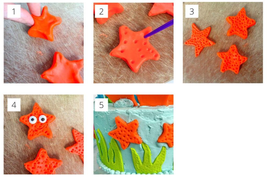Under The Sea Cake- Fondant Starfish
