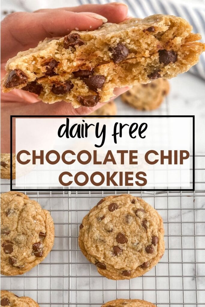 Save this coconut oil and egg free chocolate chip cookie recipe to Pinterest!
