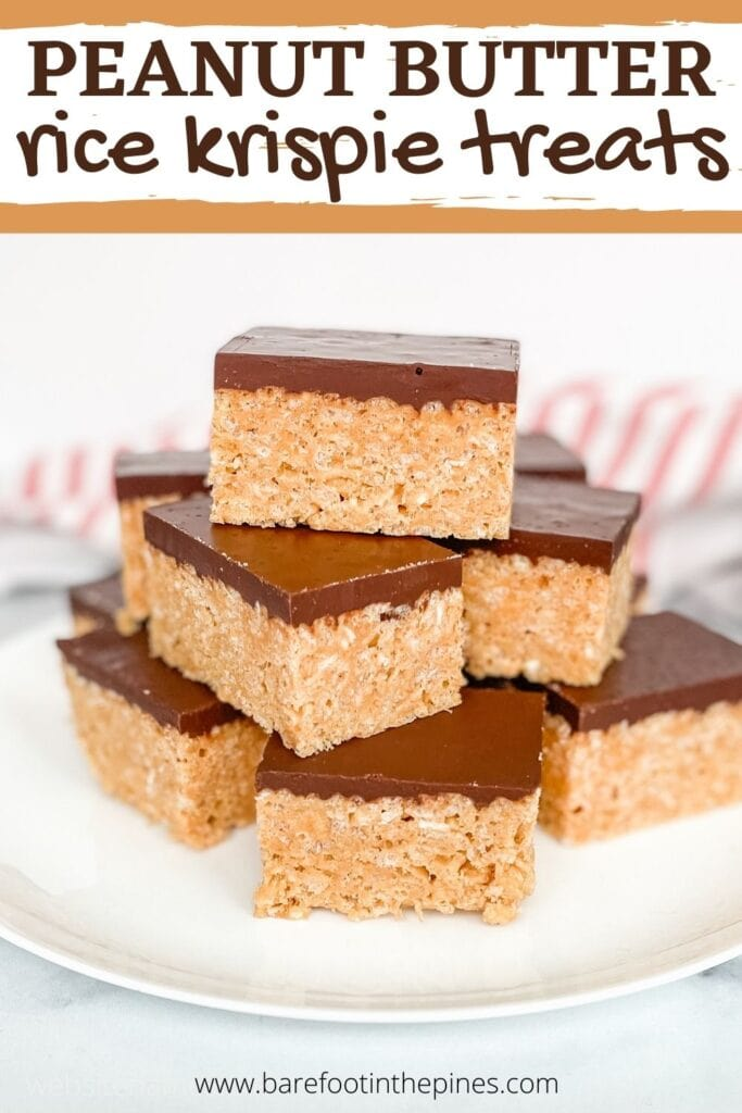 Save Peanut Butter Rice Krispie Treats to Pinterest