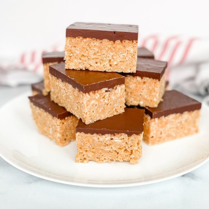 The Best Peanut Butter Rice Krispies Treats With Chocolate