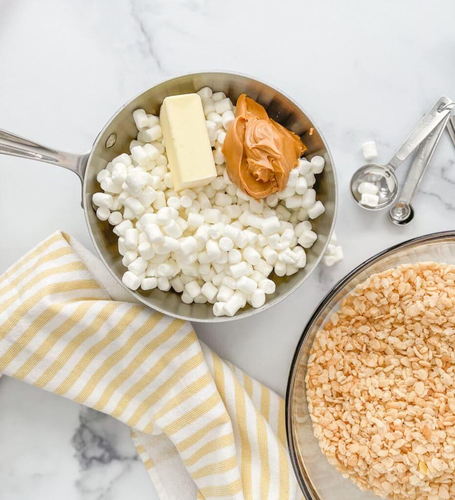 Ingredients for the Rice Krispie Treats