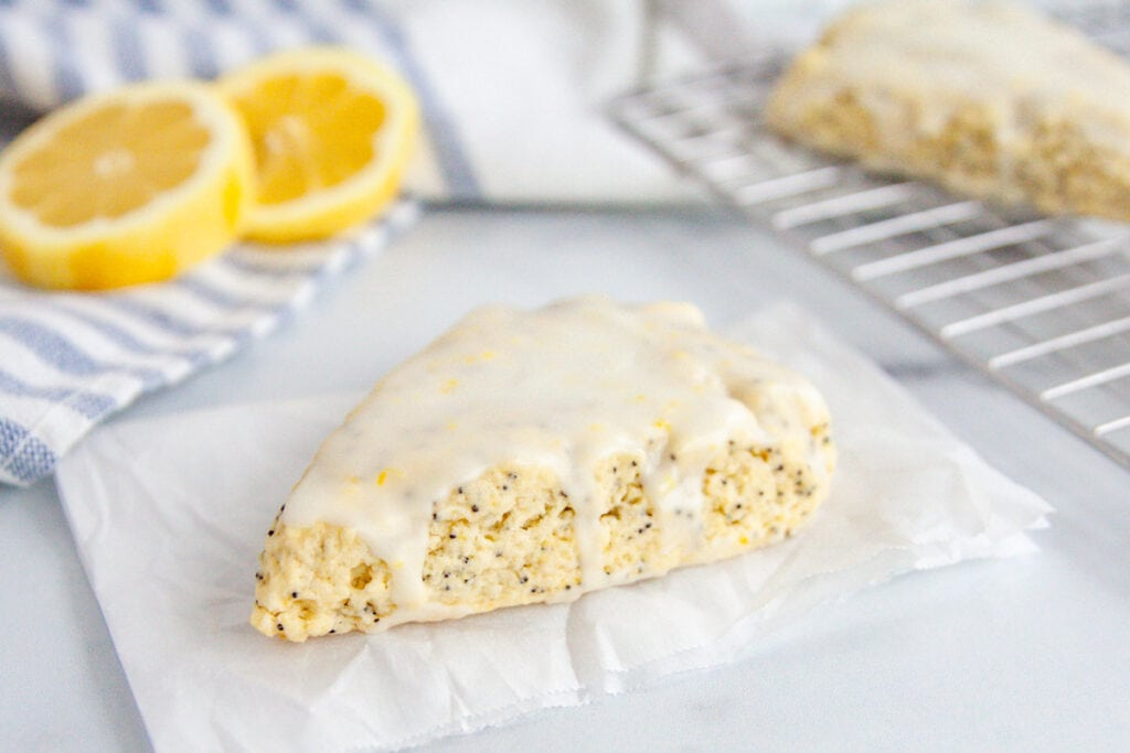 The Best Lemon Poppy Seed Scones with Icing