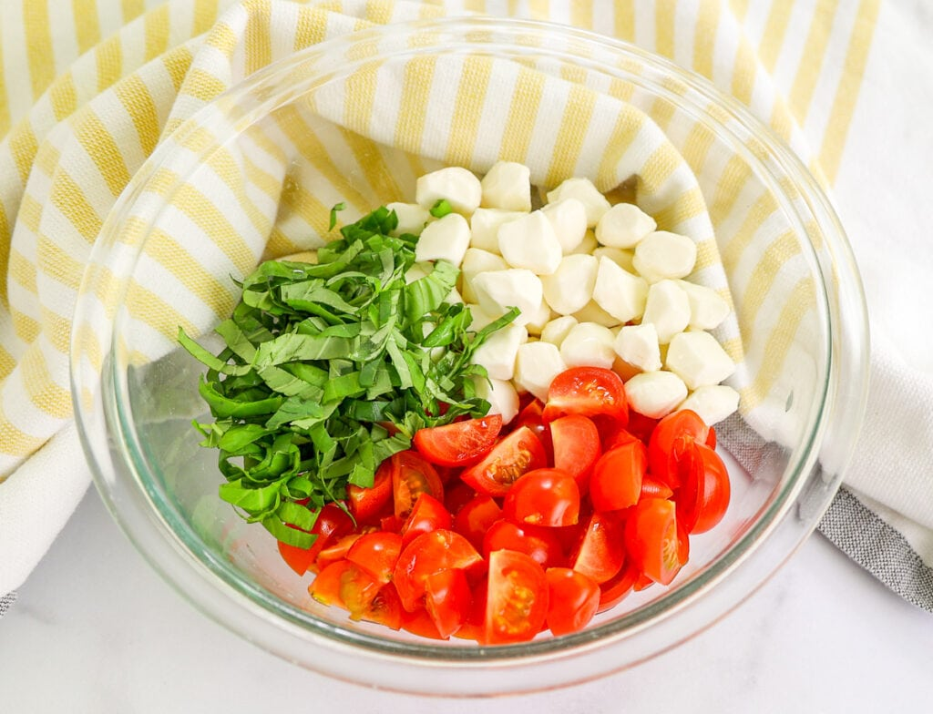 Ingredients for the cherry tomato salad