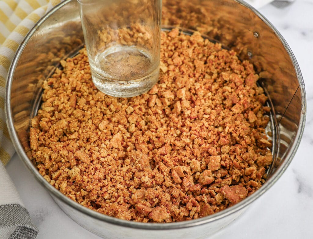 Tamping Down The Graham Cracker Crust