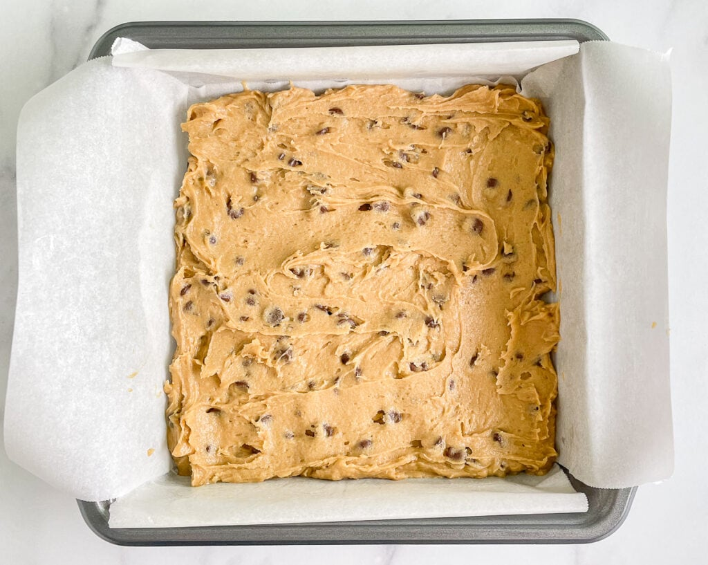 Chocolate Chip Cookie Dough Layer
