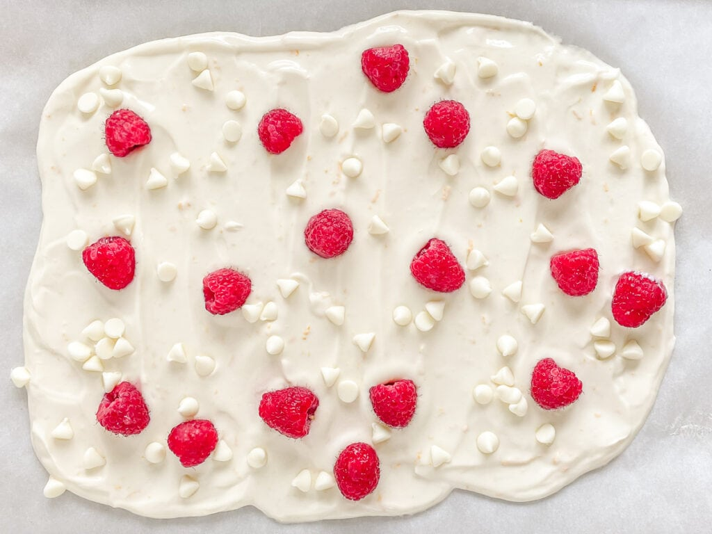 Raspberry and white chocolate flavor