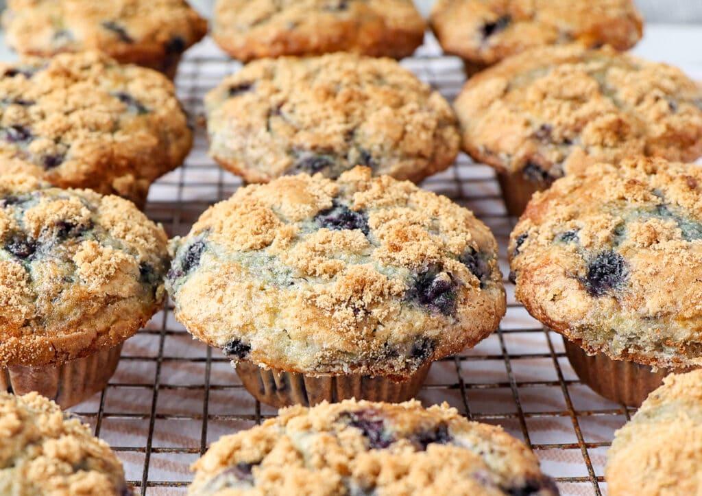 Buttermilk Maine Blueberry Muffins with Maine Maple Sugar